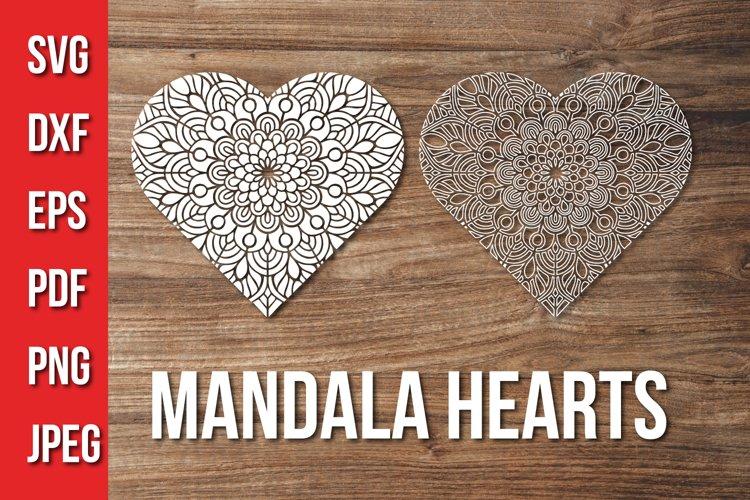 Download Valentines Day Heart Mandala Svg Love Mandala Cut File 1120117 Cut Files Design Bundles
