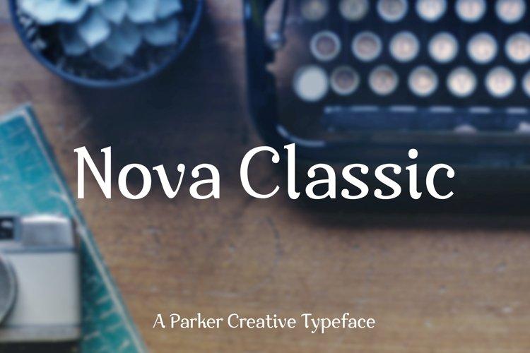 Nova Classic Stylish Display Font example image 1