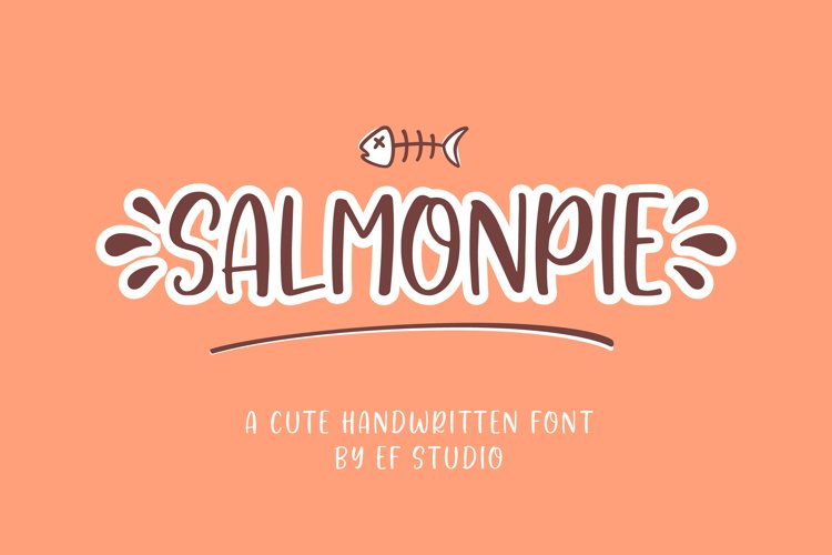 Salmonpie | A Cute Handwritten Font example image 1