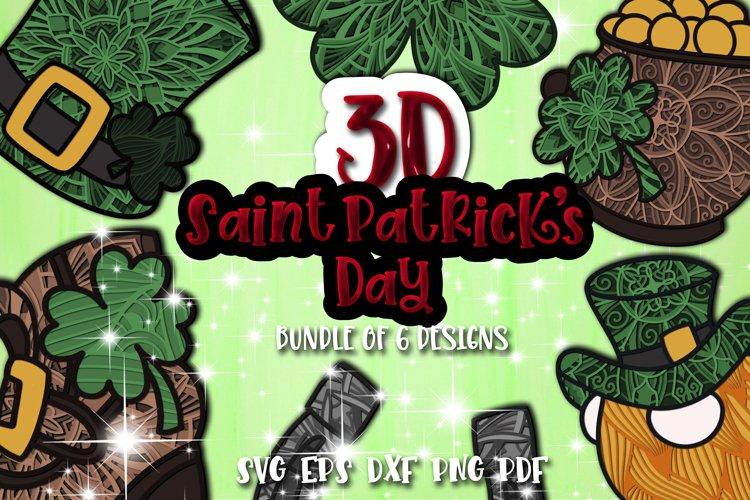 3D St Patricks Day Bundle Layered of 6 designs Papercraft