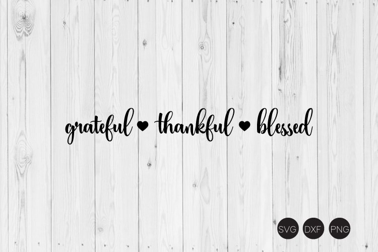 grateful thankful blessed SVG example image 1
