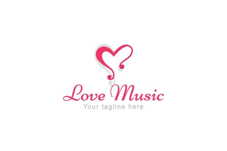 Love Music - Alphabetic Stock Logo Template example image 1