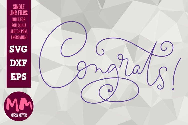 Congrats! - single line for foil quill & sketch pen! example image 1