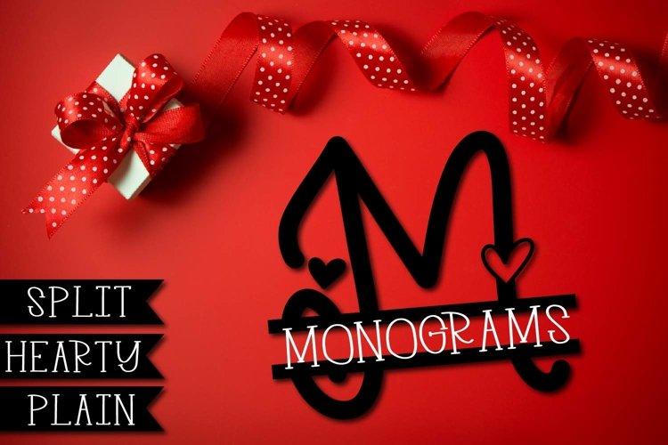 Split Monogram Font Trio - 3 Versions of Monograms! example image 1