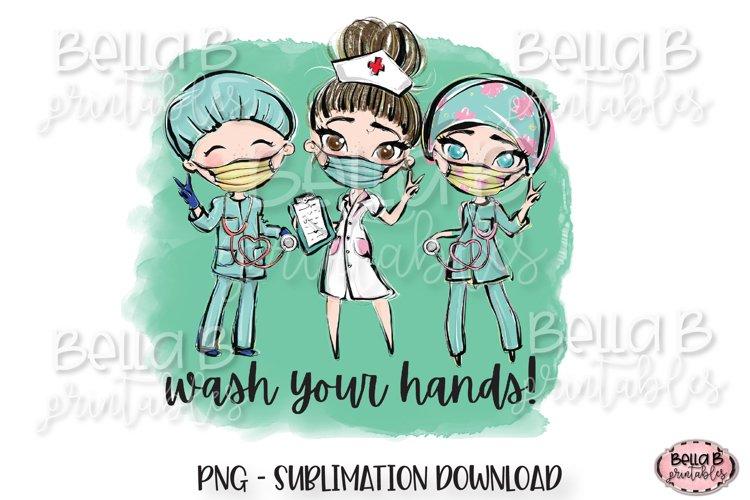 Medical Doctor Sublimation Design, Wash Your Hands PNG example image 1