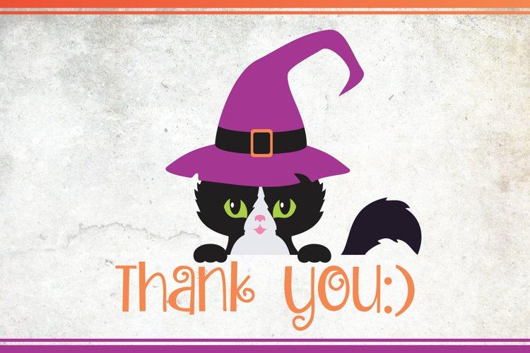 Black cats. Halloween clip art example 6
