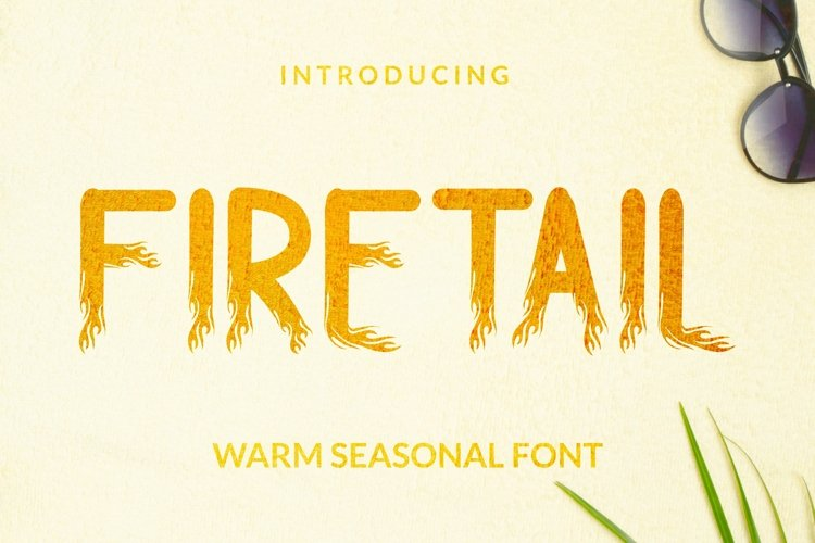 Web Font Firetail Font example image 1