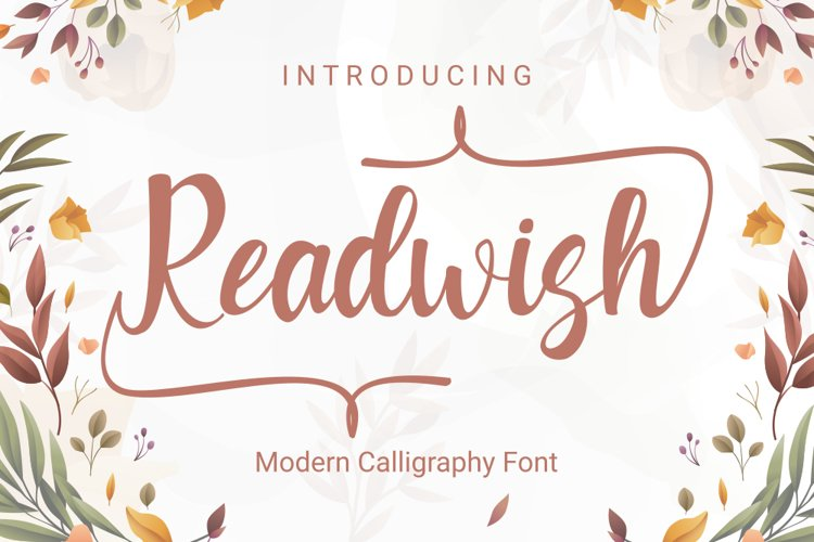 Readwash - Modern Calligraphy Font example image 1