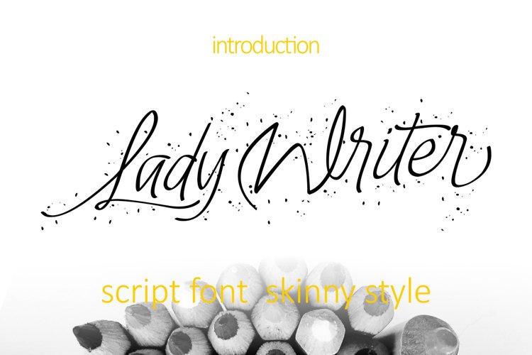 Lady Writer Skinny Font example image 1