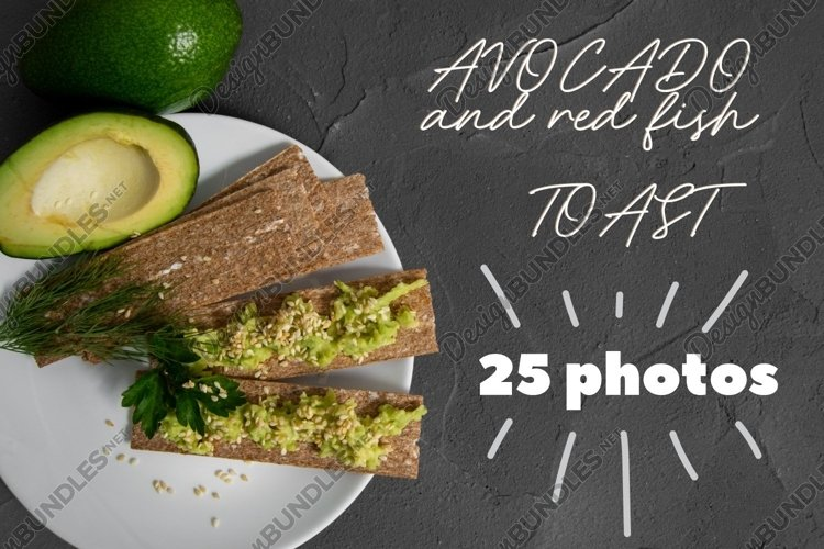 Avocado and red fish toast