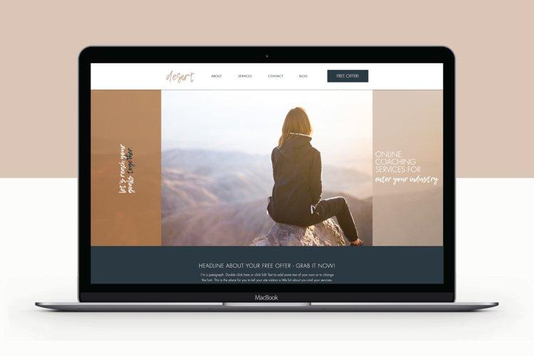 Wix Website Template | Desert example image 1