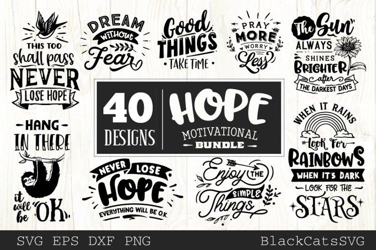 Hope motivational Bundle SVG bundle 40 designs example image 1