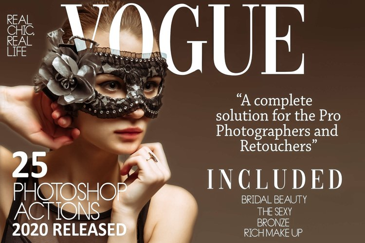 25 Vogue Photoshop Actions And ACR Presets, fashion Ps