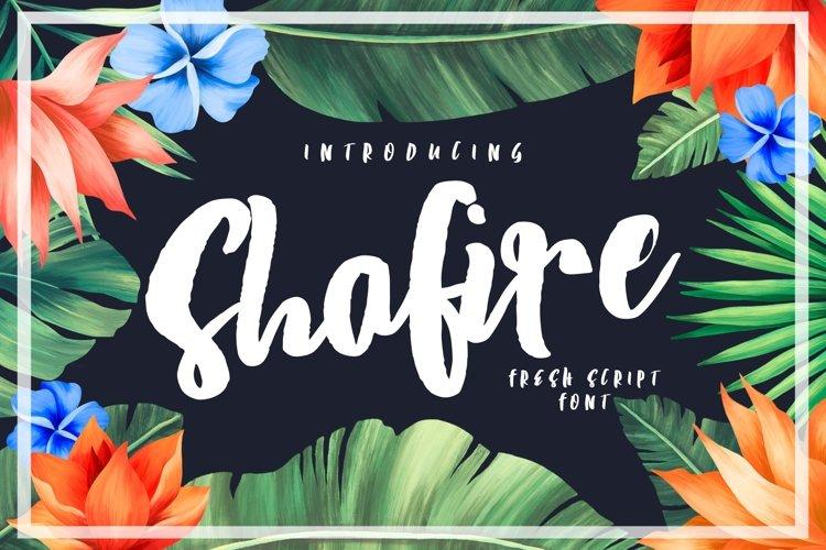 Shafire Fresh Script example image 1
