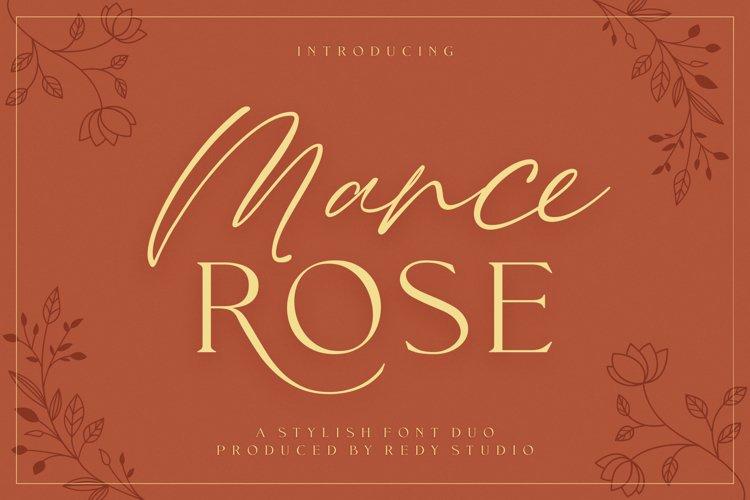 FontDuo | Mance Rose example image 1