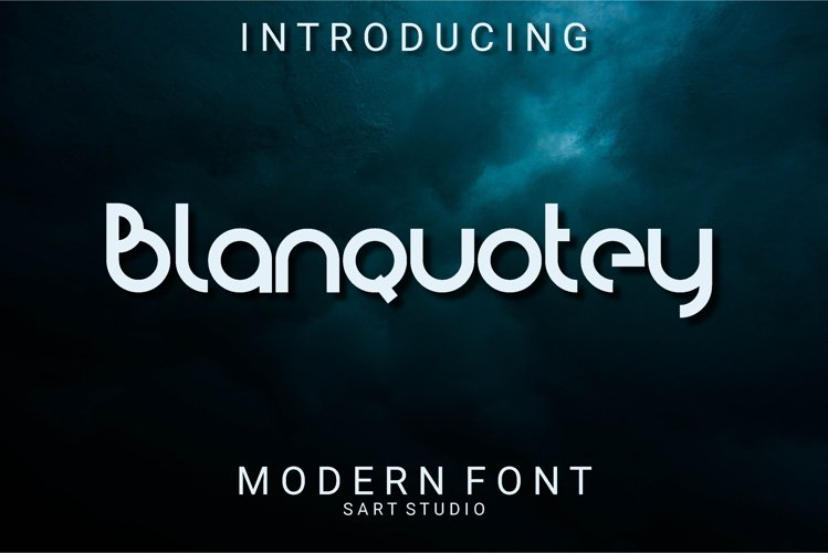 Blanquotey Modern Font example image 1