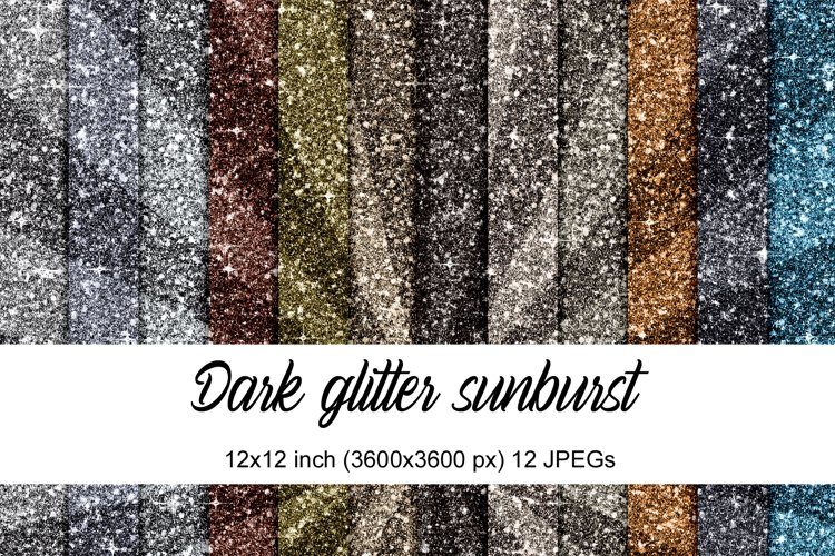 Dark Glitter Sunburst example image 1