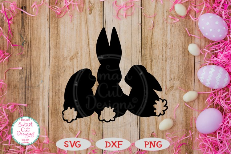 Easter Bunnies SVG, Bunnies Silhouette SVG, Easter SVG, DXF