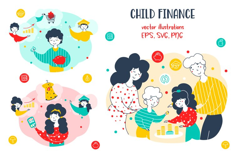 Child finance - Financial Illustrations example image 1