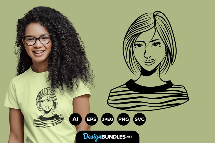 Woman Illustrations for T-Shirt Design