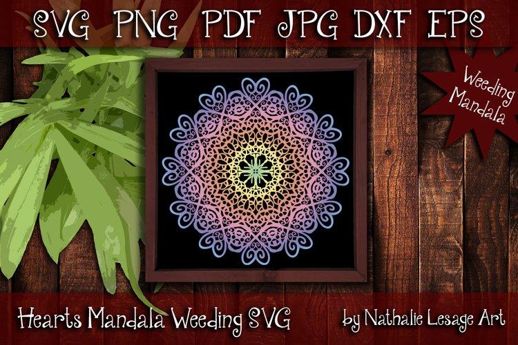 Hearts Mandala SVG Zetangle Sublimation and Weeding Files example image 1