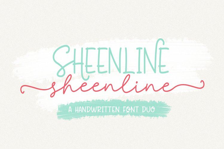 Sheenline Font Duo example image 1