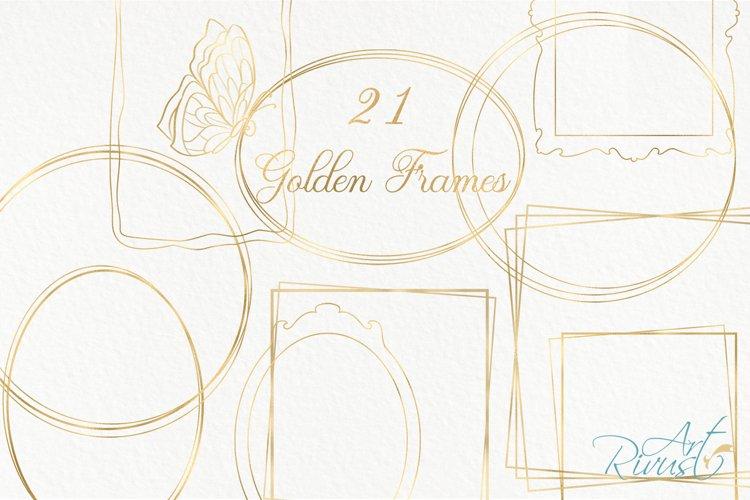 Gold Frame Clipart download. Commercial use. Golden Frames example image 1