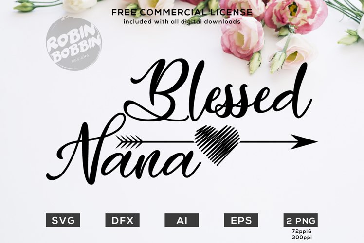 Blessed Nana Design for T-Shirt, Hoodies, Mugs and more example image 1