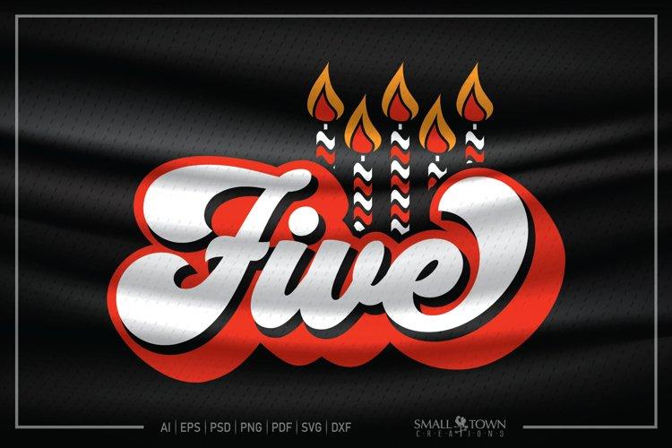 Fifth Birthday, 5th Birthday SVG, Birthday Candle SVG