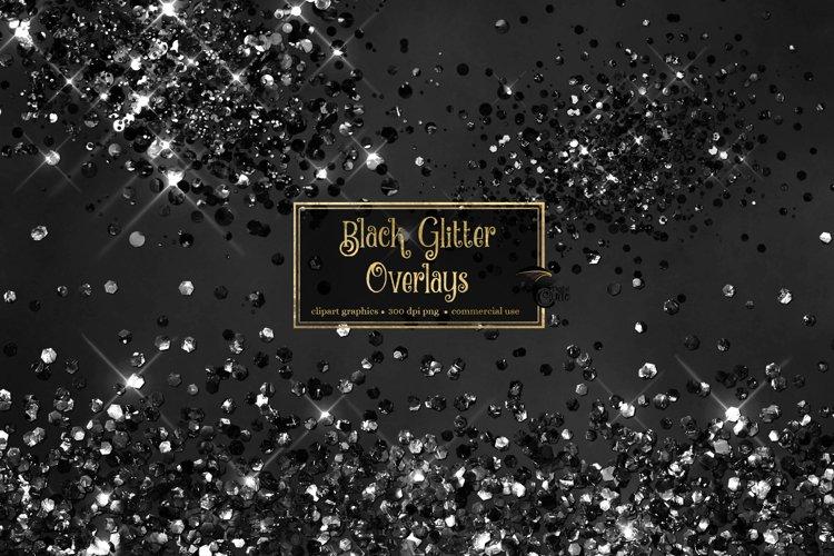 Black Glitter Overlays