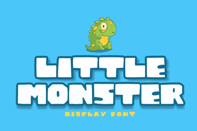 Little Monster Display Font example image 1