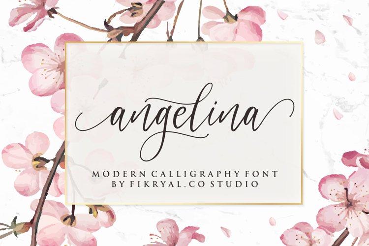 angelina - modern calligraphy font example image 1