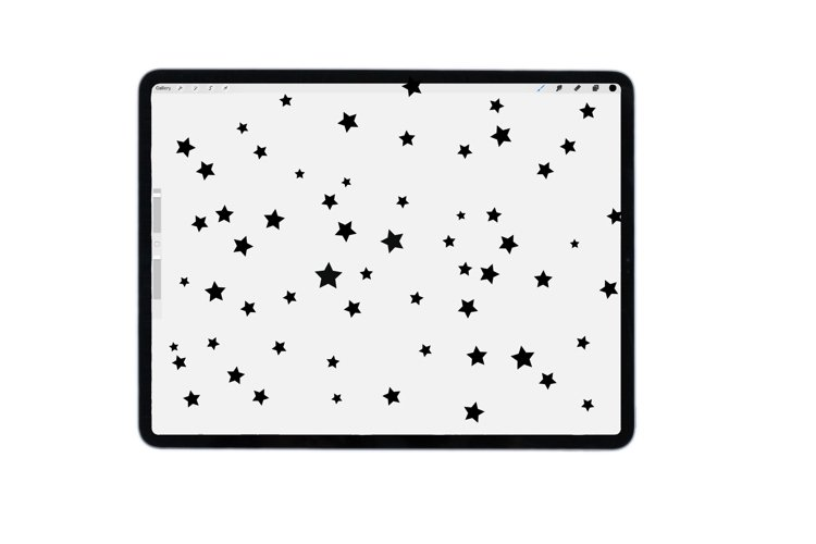 Procreate stars brush for iPad, iPad pro example image 1