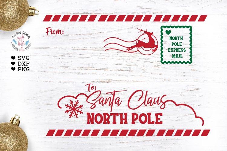 Letter to Santa SVG - Santa Envelope Cut File and Printable example image 1