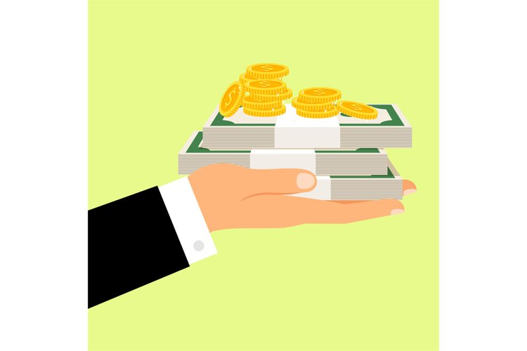 Hand and money motivation poster example image 1