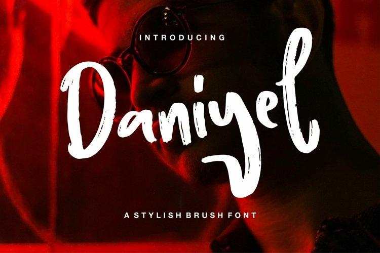 Web Font Daniyel - Stylish Brush Font example image 1