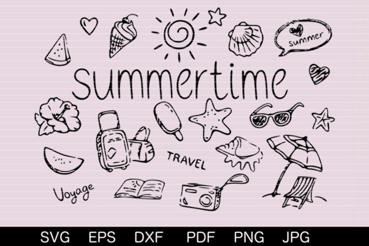Summertime SVG DXF EPS PDF PNG JPG example image 1