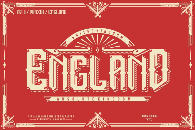 England + Poster vector example image 1