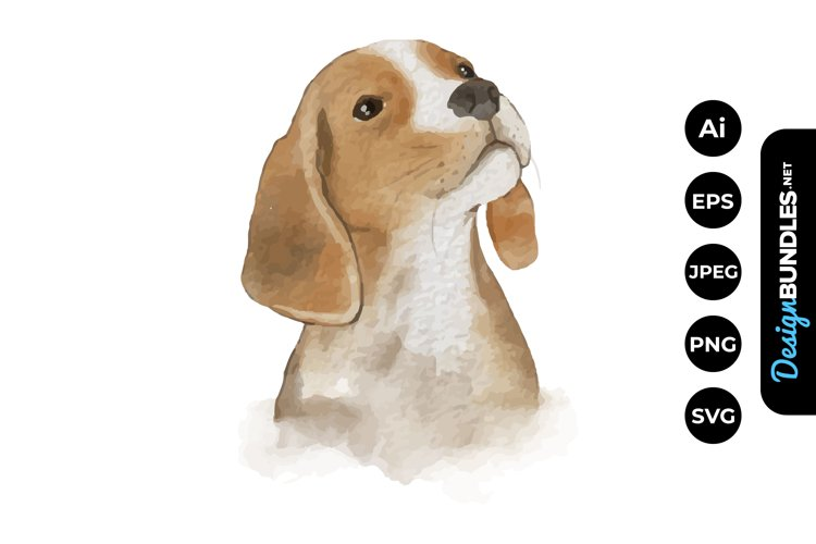 Dog Watercolor example image 1