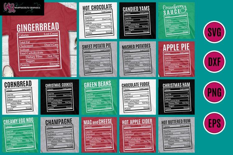 Holiday Food Funny Nutrition Bundle 2 SVG, DXF, PNG, EPS