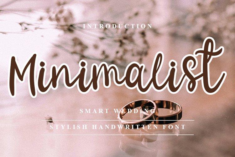 Minimalist - Modern Handwritten Font example image 1