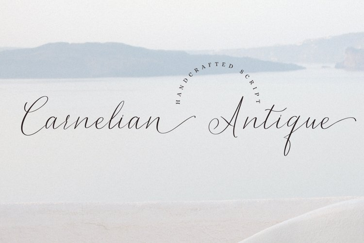 Carnelian Antique - Contemporary style script example image 1