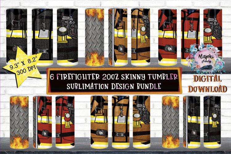 Firefighter  20oz Skinny tumbler  Sublimation Wrap Bundle example image 1