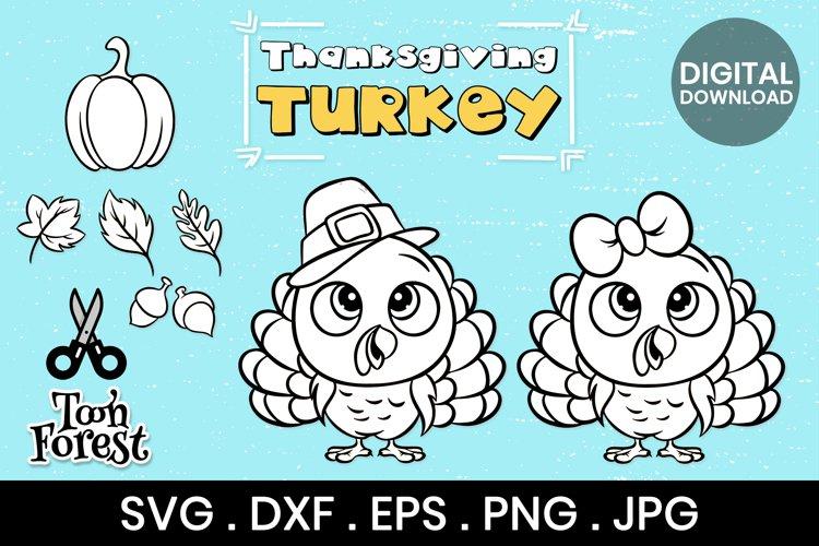 Turkey Outline SVG, DXF, EPS, and Png cut files bundle
