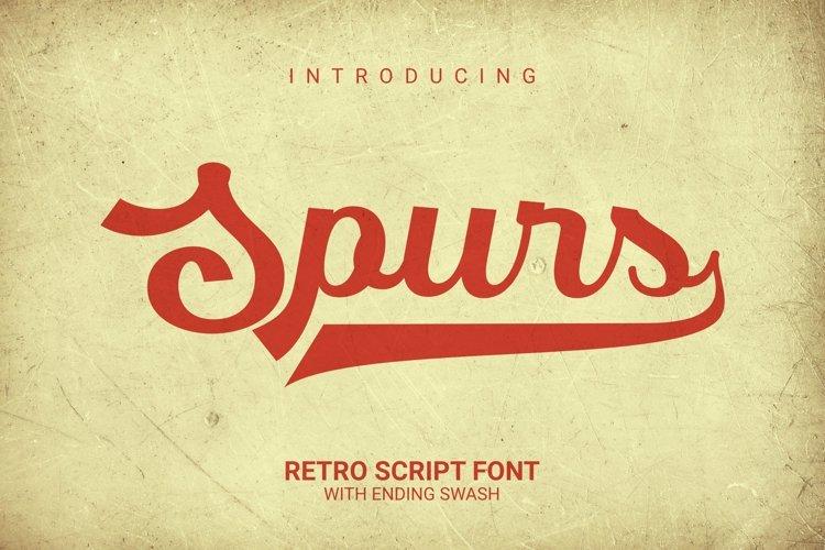 Web Font Spurs Font example image 1