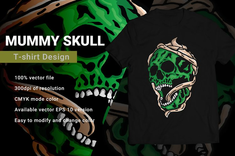 Mummy Skull | T-Shirt Design example image 1