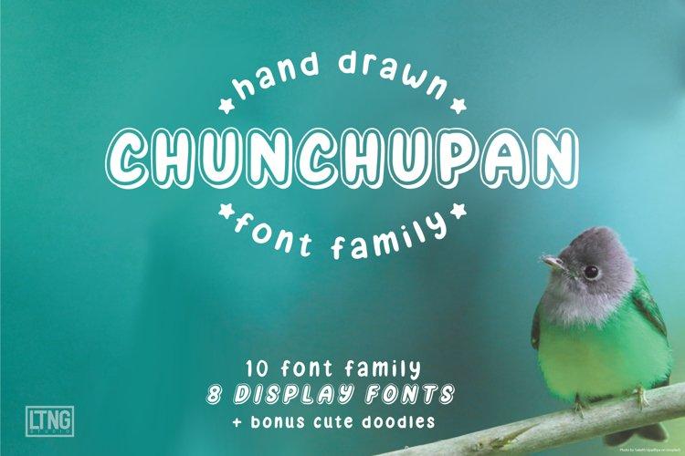 Chunchupan Font Family example image 1