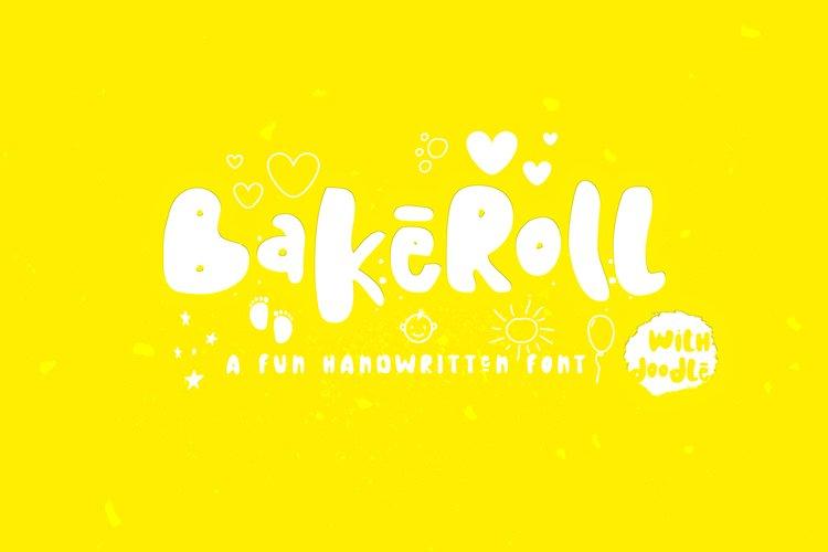 BakeRoll - A Fun Handwritten Font