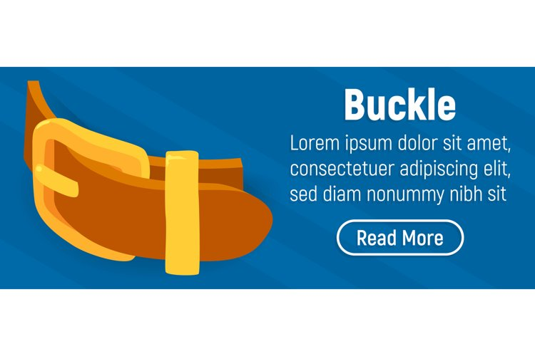 Buckle concept banner, comics isometric style example image 1