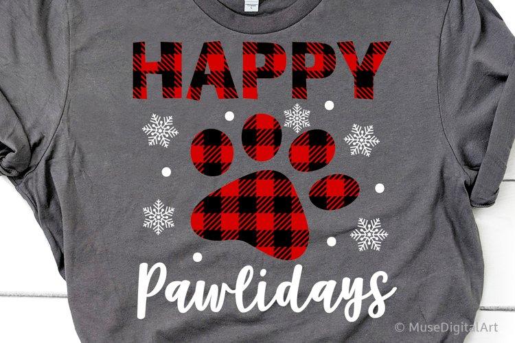 Happy Pawlidays Svg, Dog Christmas, Cute Puppy Svg Christmas example image 1